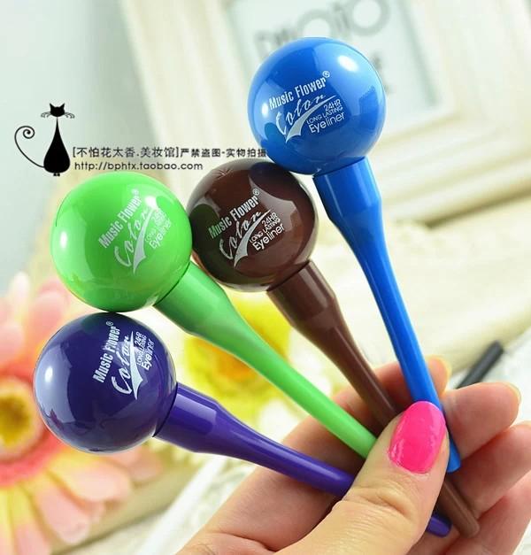 M2021 music flower multicolour liquid eyeliner lollipop eyeliner white and brown(China (Mainland))