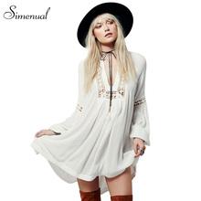 Buy Hot sale 2017 summer chiffon beach dress casual new slim lace splice sexy dresses women lantern sleeve white women's clothing for $13.99 in AliExpress store