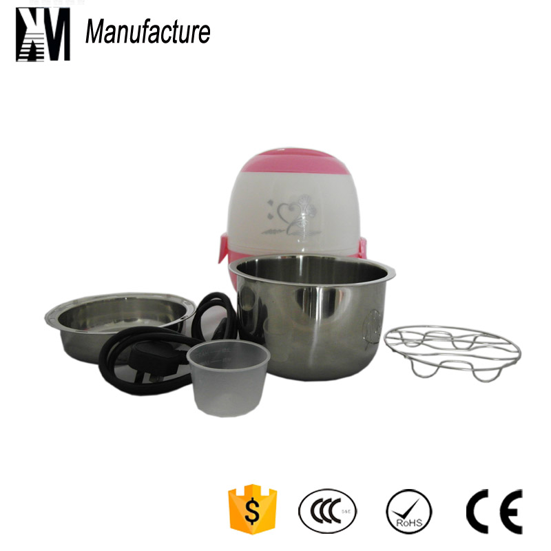 New arrived free shipping personal using portable steam mini electric rice cooker for baby students(China (Mainland))