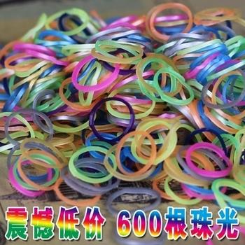 Бусины свет 600 шт. перламутровый резинкой материал руки девушки резинки для браслетов дети плетение ткачество резинки для браслетов