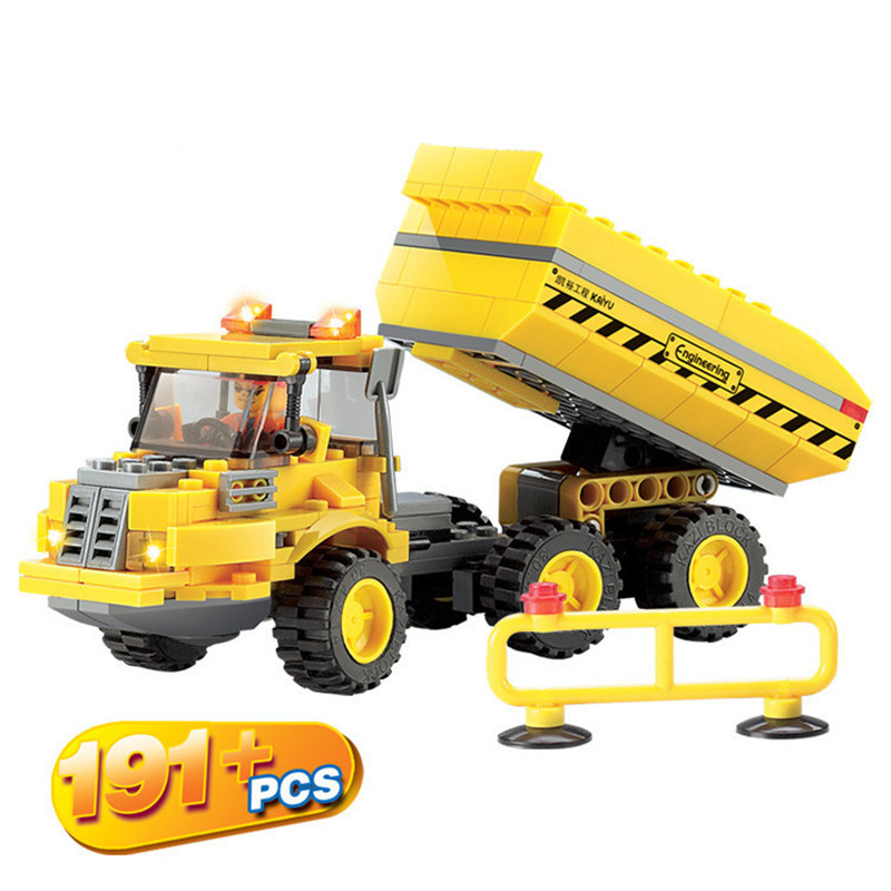 2015 High quality Dump truck Building blocks sets Compatible with LEGO Urban construction DIY scale models bricks baby toy