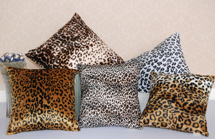 40*40cm hide animal leopard cushion for sofa,car,bed and especially office for multi-purpose type pillow(China (Mainland))