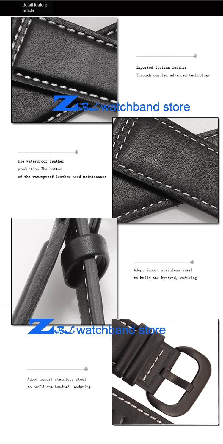 Натуральная кожа ремешок для часов гладкий белый браслеты ремешок 28 мм высокое качество для пятницу просмотрам кожаный браслет