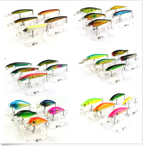 Bravefishermen Brand 30 pcs Colorful Crank Lure Hooks Minnow Baits Tackle Fishing Lures US In Stock(China (Mainland))