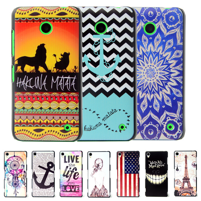 Brand Ultra Thin Cartoon Pattern Matte Hard Plastic Back Case for Microsoft Nokia Lumia 630 635 Cell Phone Protective Cover(China (Mainland))