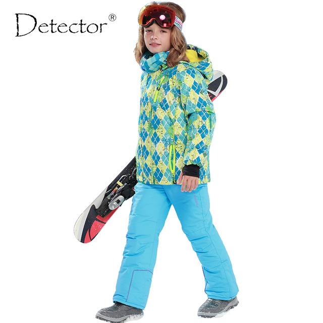Новое прибытие Марка Детектор детская лыжная и сноуборд костюмы толстый теплый ветрозащитный и водонепроницаемый куртки и брюки для мальчиков и девушки