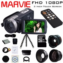 Buy Marvie 2017 New Digital Camera Full HD 1080P 16x Zoom Recorder Camcorder Mini 3'' Touch DV DVR 24MP Video Camera for $96.78 in AliExpress store