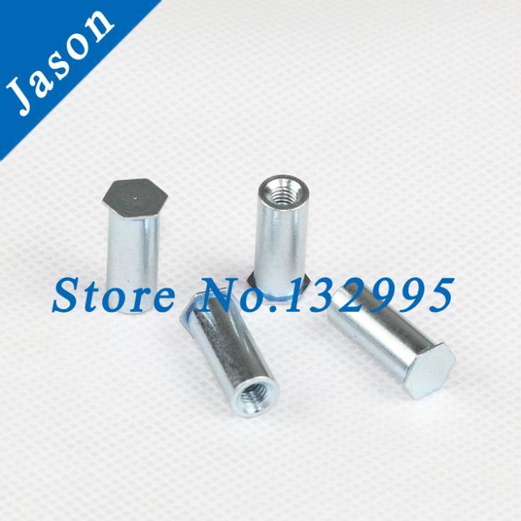BSO-M5-12*100pcs  PEM Through hole standoff   Carbon Steel zinc plate<br><br>Aliexpress