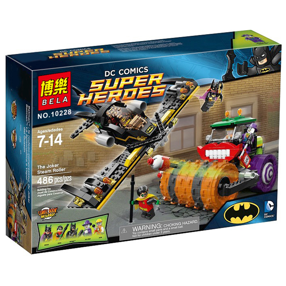 BELA 10228 DC BATMAN The Joker Steam Roller ROBIN Super Heroes Minifigures Building Bricks Blocks legoelieds Education Toys