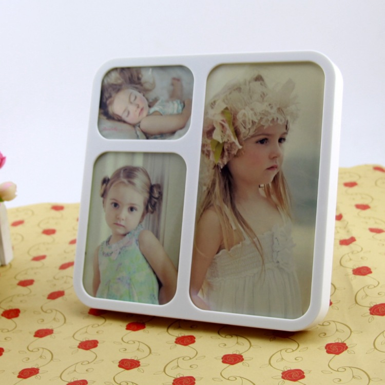 Modern Simple Combination Picture Frame Plastic Home Decoration Porta Retrato Swing Sets Wedding Photo Frame(China (Mainland))