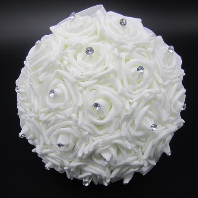 Acheter belle blanc de mari e bouquet de mari e demoiselle d - Bouquet de rose artificielle ...