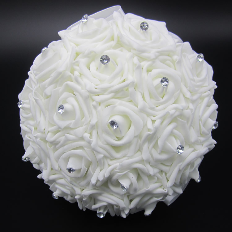 Buy Lovely White Wedding Bouquet Bridal Bridesmaid Brooch Bo
