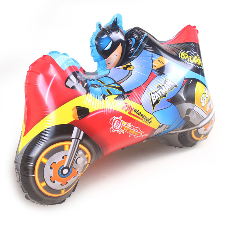 aluminum balloons Batman motorcycle balloon Cartoon Birthday Party Wedding decorations children's toys(China (Mainland))