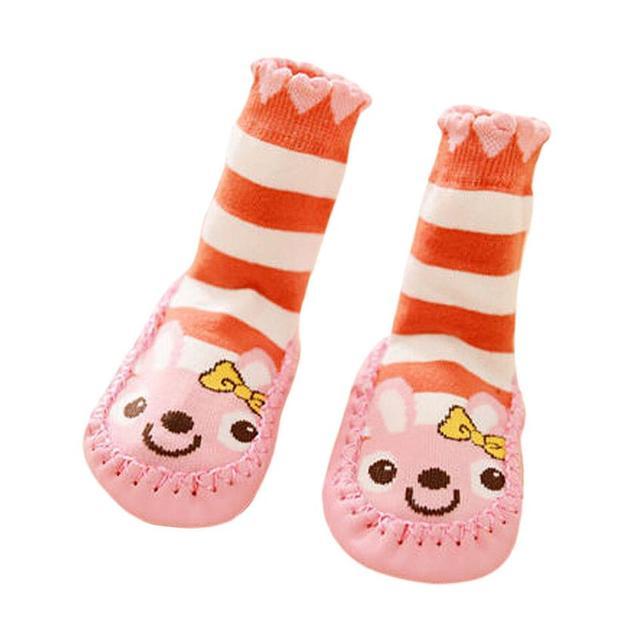 Детские носки новорожденных зимняя одежда детей носки антипробуксовочная мультфильм ...