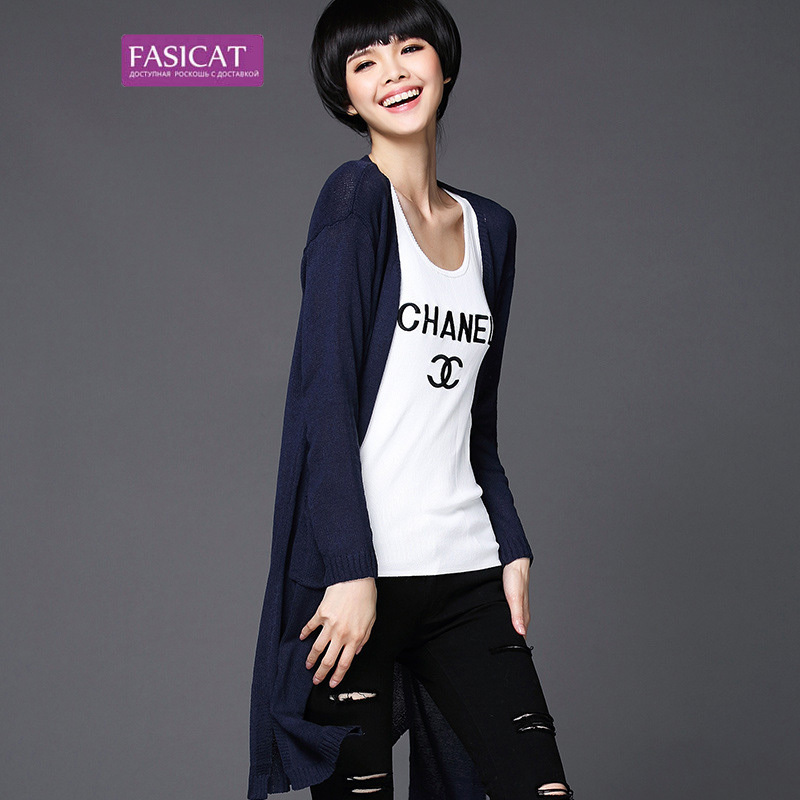 Fasicat 2015 Autumn New Style Long Women Cardigans Crocheted Long Sleeves Solid Color Fashion Loose Casual Laides Shirts 173784Одежда и ак�е��уары<br><br><br>Aliexpress