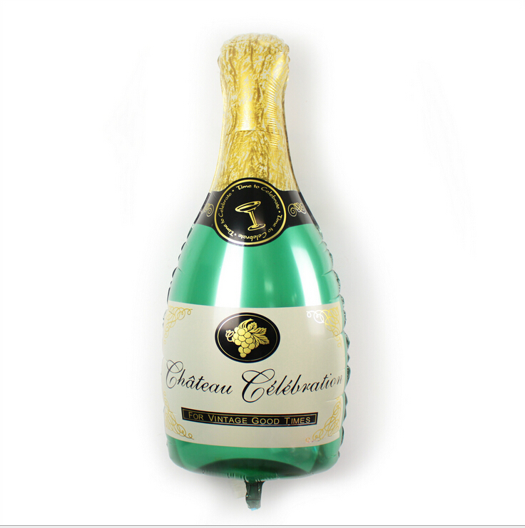 Гаджет  100*50cm Queen size champagne bottle, aluminum foil balloon wedding party bar decoration None Игрушки и Хобби