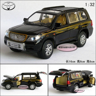 New 1:32 Toyota Land Cruiser Diecast Model Car With Sound&Light Black B207a(China (Mainland))