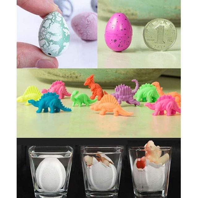 Magic Water Growing Egg Hatching Colorful Dinosaur Add Cracks Grow Eggs Cute Children Kids Toy For Boys  1 Pcs