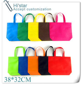 38*32cm 20pcs/lot PP non woven shopping bag for packing shoes printing fishes(China (Mainland))