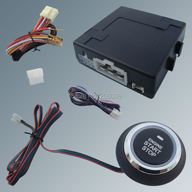 Stock In USA! Push Button Start Module W Remote Engine Start For Automatic Shift Car & Compatible With Car Alarm System(China (Mainland))