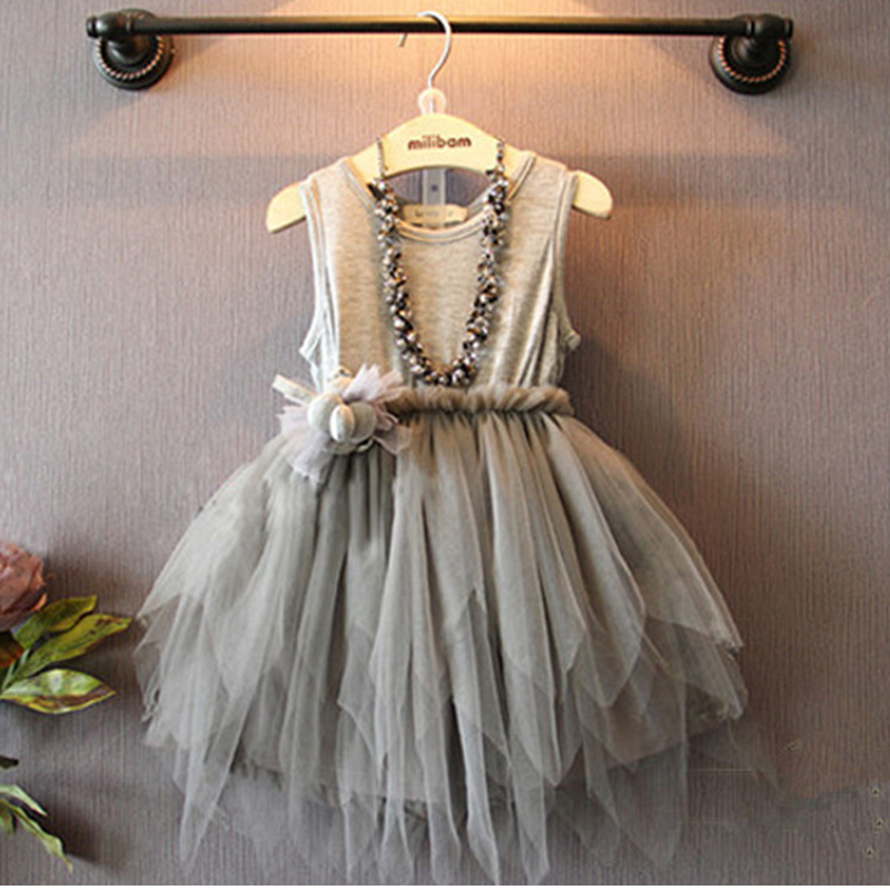 2016 New Arrival Summer Girl Dress Suit Baby Girl Vest Dresses Kid Clothes Children Clothing Dress For Girls(China (Mainland))