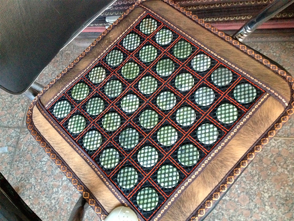 New & Good! Natural Tourmaline Mat Physical Therapy Chair Mat Health Care Pad Heat10-70 Celsius AC220,Free Shipping(China (Mainland))