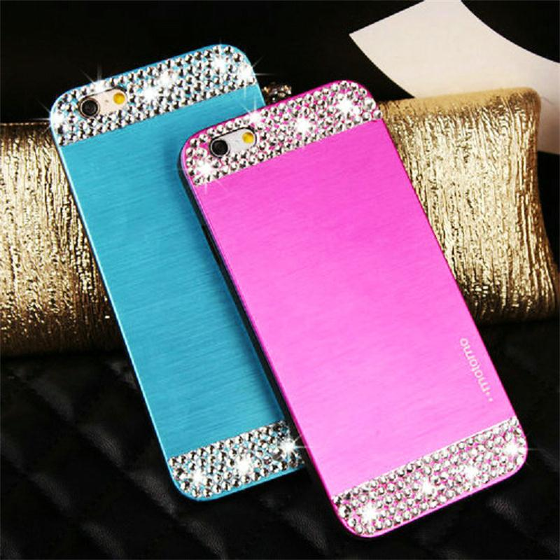 Luxury Business Brushed Metal Aluminium material case For Samsung Galaxy J3 phone Diamond bling protective cover(China (Mainland))