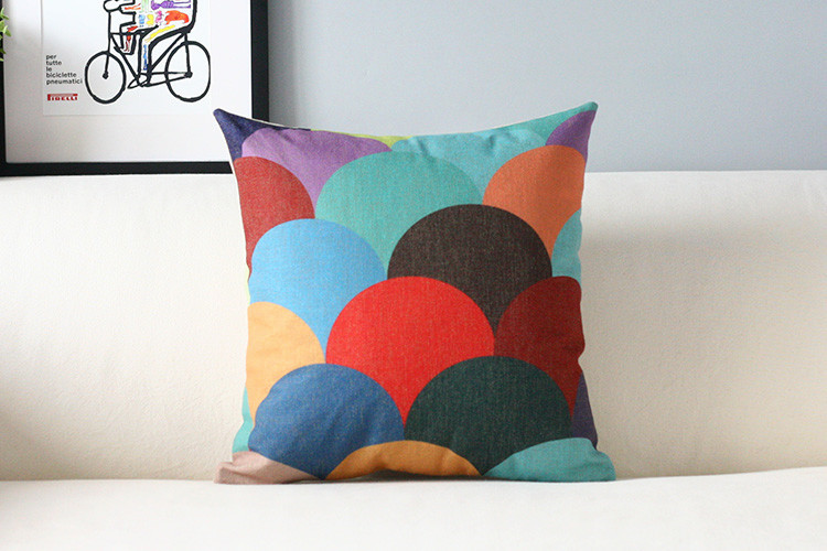 Nordic color pillow Modern Geometric cushion pillowcase sofa cushion home decorative Pillows