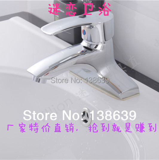 Здесь можно купить  Free shipping bathroom faucet deck type hot and cold taps basin faucet hot and cold copper bibcock basin tap washbasin faucet  Дом и Сад