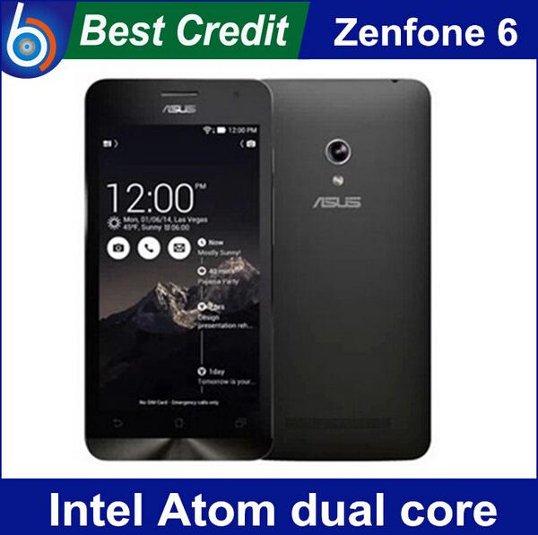 In stock Original ZenFone 6 Cell phones 2GB+ 8GB / 2GB+16GB Intel Atom Dual cores Dual Cards smart phone Free shipping/ Eva(China (Mainland))