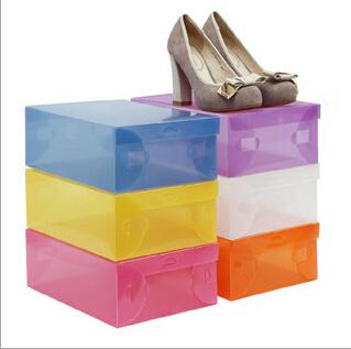wholesale 1000pcs lot women 39 s plastic clear shoes box storage organizer 28cm 18cm 10cm free. Black Bedroom Furniture Sets. Home Design Ideas