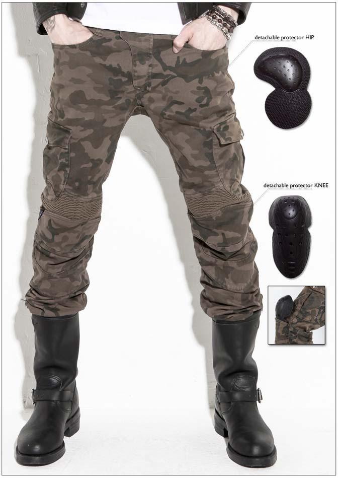 Фотография UglyBROS motorpool camo ubs07 jeans camouflage leisure riding a motorcycle pants jeans