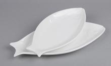 Творческий специальной формы пластину белой рыбы перл рыба блюдо микроволновая костюм для печи