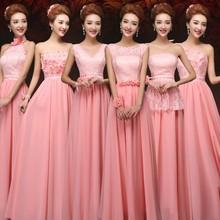 Buy Cheap 6 style long Lace chiffon Bridesmaid Dresses Sky blue purple Pink wedding dress, Prom Dress party dress women Vestidos for $58.99 in AliExpress store