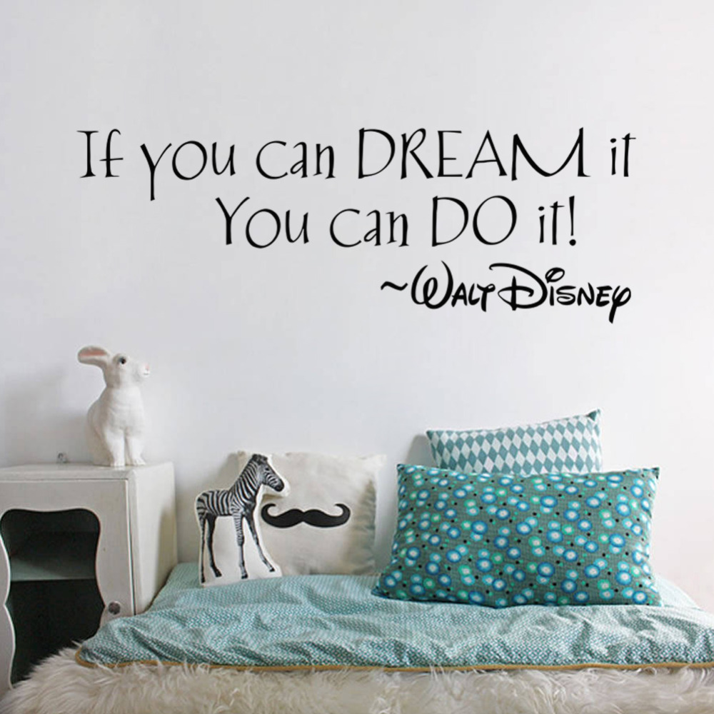 IF YOU CAN DREAM IT YOU CAN DO IT inspiring quotes Wall Stickers Home Art Decor Decal Mural Wall Stickers For Kids Rooms(China (Mainland))