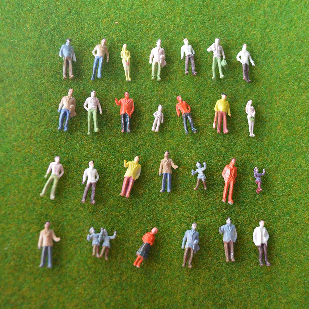 Durable 200pcs HO Scale 1:100 Painted Model ABS Plastic Railway Park Street Passenger People Figures for Landscope(China (Mainland))