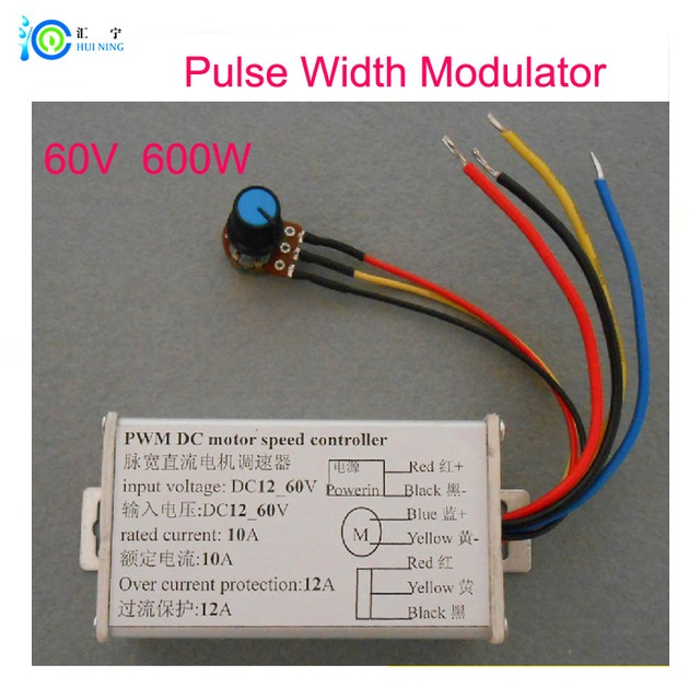 HK post 12V to 60V Max current 10A 600W PMW power driver board DC Motor speed controller for Micro -DC motor(China (Mainland))