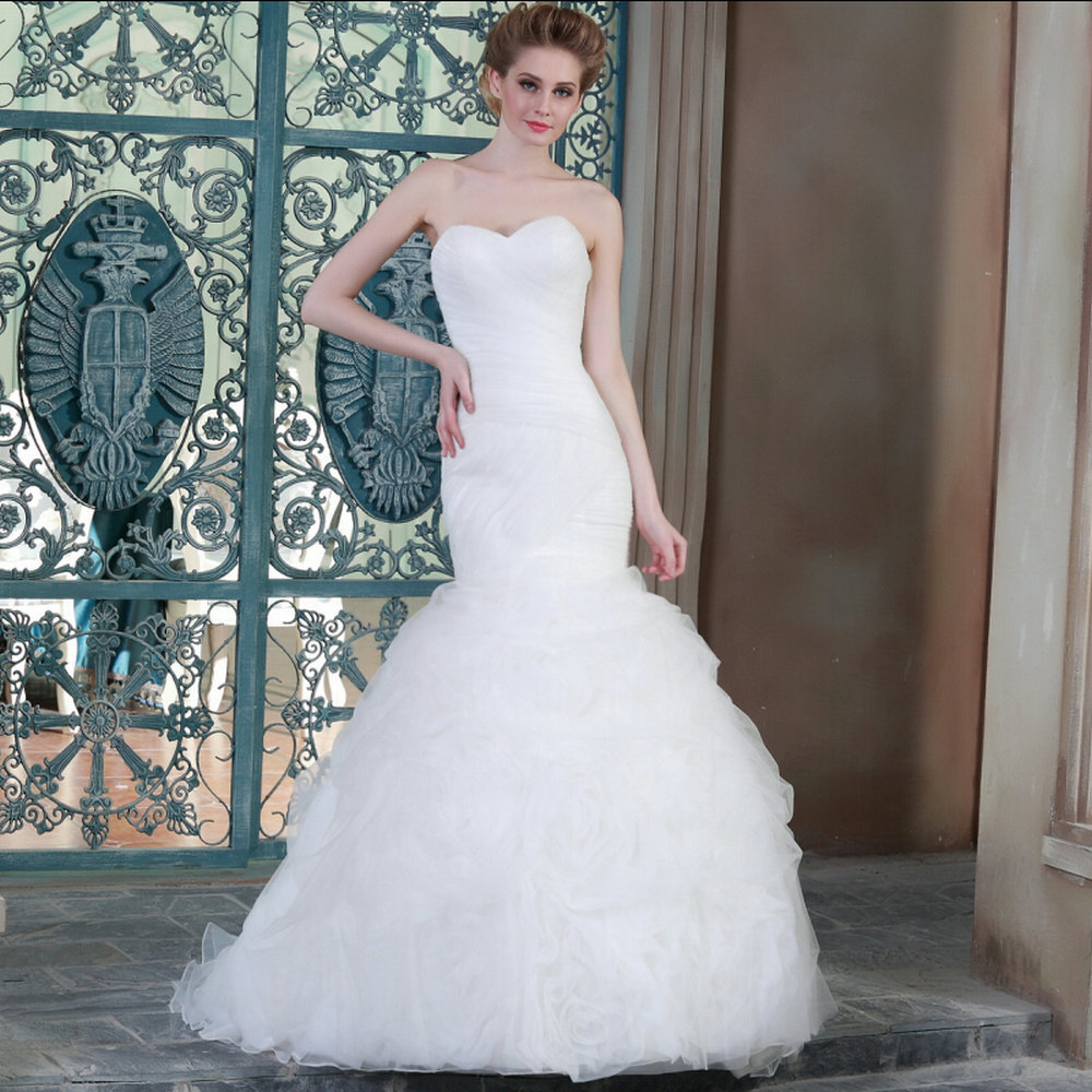 Trumpet wedding dresses mrw09 cheap wedding dresses made for Cheap wedding dress from china