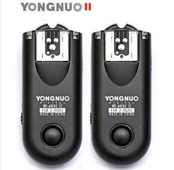 Shutter Release YONGNUO RF-603II C3 Flash Trigger for Canon 1DIV 1DIII 1DII 1D 5DII 5D 50D(China (Mainland))