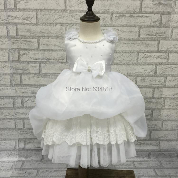 Free shipping Baby dress low price Stock selling Flower Girl Dress for wedding party brithdays baby dress Baptism clothes X2183(China (Mainland))