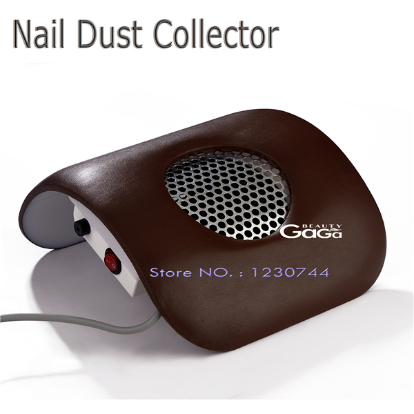 Beauty GaGa Equipment Dust Suction Strong Fan Nail Dust Collector Dark Brown Color 110V & 220V EU Plug Nail Art Manicure(China (Mainland))