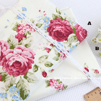 160*50cm Sewing Supplies 100% cotton fabric Victoria Red roses Bedding fabric DIY patchwork Sewing cushion Home textile fabrics