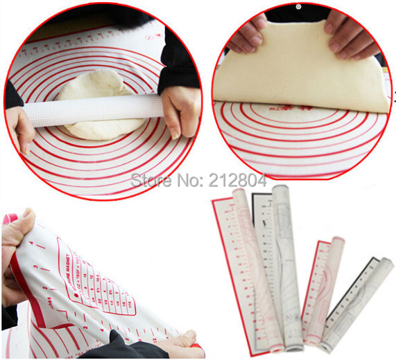 Novelty Household Kitchen Cooking Tools 60 cm Dough Silicone Bake Mat Sugar Craft Pastry Roll Non-Stick Sheet Pad Eat Mat(China (Mainland))