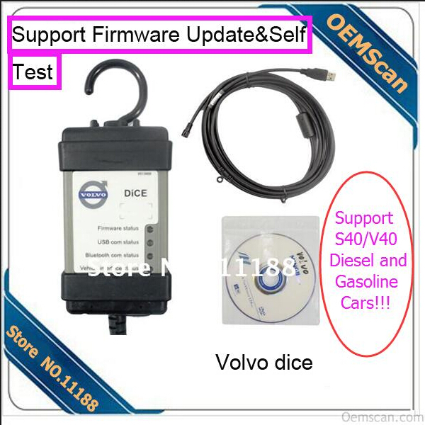 DHL free shipping fast delivery Support Diesel and Gasoline Cars2014D Vida Vo-lvo Dice Protocol Support Firmware update(China (Mainland))