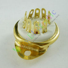 Buy Wholesale retail 8pcs GOLD 9pin Ceramic vacuum tube socket gilded valve base fr 12AX7 12AU7 ECC83 free for $9.67 in AliExpress store