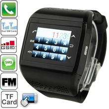 Q2 Bluetooth / FM Radio Touch Screen Watch Phone Dual SIM Cards Dual Standby Quad Band Network GSM850/900/1800/1900MHz