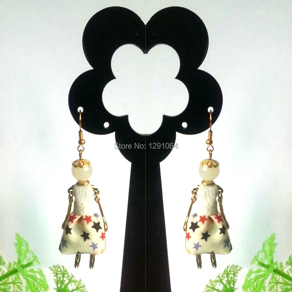 2014 Fashion Jewelry French Romantic Handmade Anti Doll Earring Cute Dress Earring wholesale with MOQ 120pcs for store retails<br>