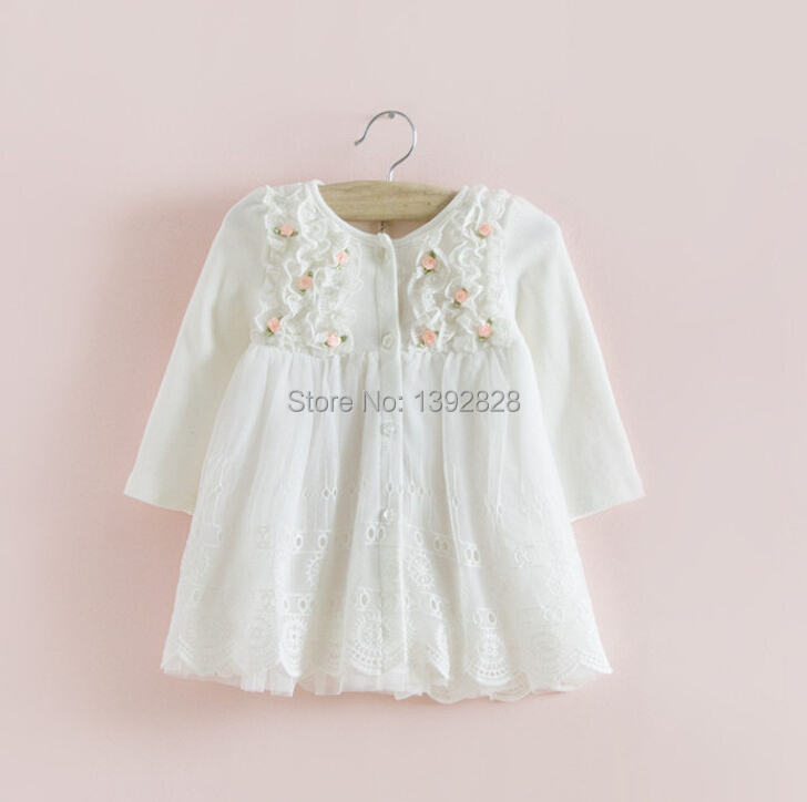 Гаджет  2014 hot sale IDEA Autumn cotton Kids clothes newborn Girls indant dress baby clothing baby girls dress vestido infantil None Детские товары