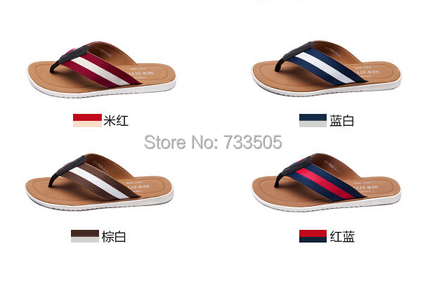 2015 Summer Leather Split Joint Sandals Slippers Men's Outdoor Casual Flip Flops Men Man MS-12 - Fantasy Jewelry 4 Store store