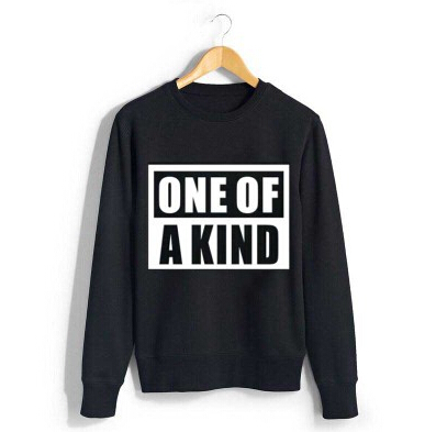 Bigbang gd g-dragon album one of a kind black white sweatshirt for autumn spring kpop vip's plus size o neck pullover hoodies(China (Mainland))